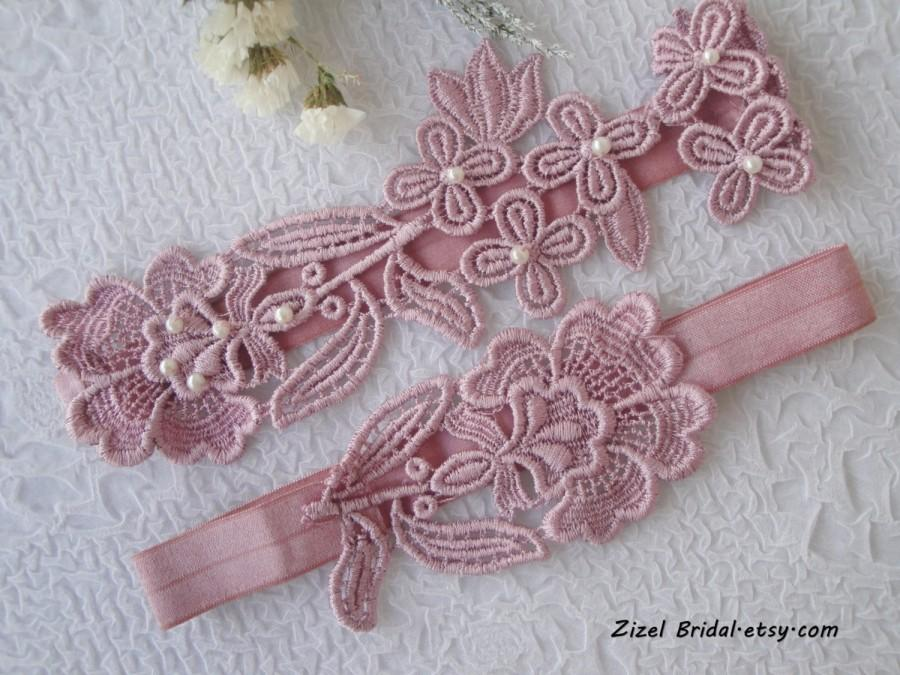Свадьба - Wedding Garter, Garter Set, Lace Garter Set, Nude Pink Garter, Bridal Garter, Pink Lace Garter, Lace Garter, Pink Garter, Pink Garter Set