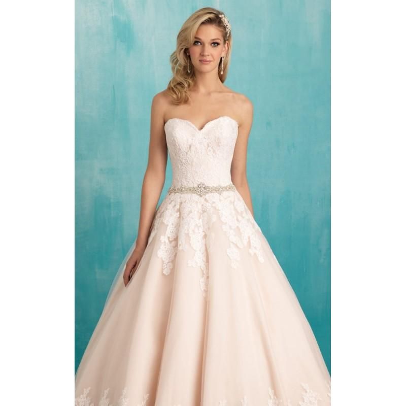 Свадьба - Strapless Lace Gown by Allure Bridals - Color Your Classy Wardrobe
