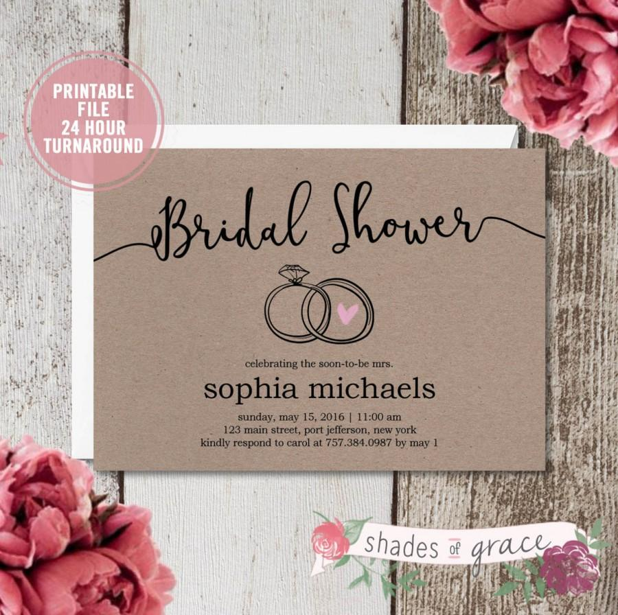 bridal shower invitation instant download rustic bridal shower invites simple diy wedding invites diy bridal shower invitations download