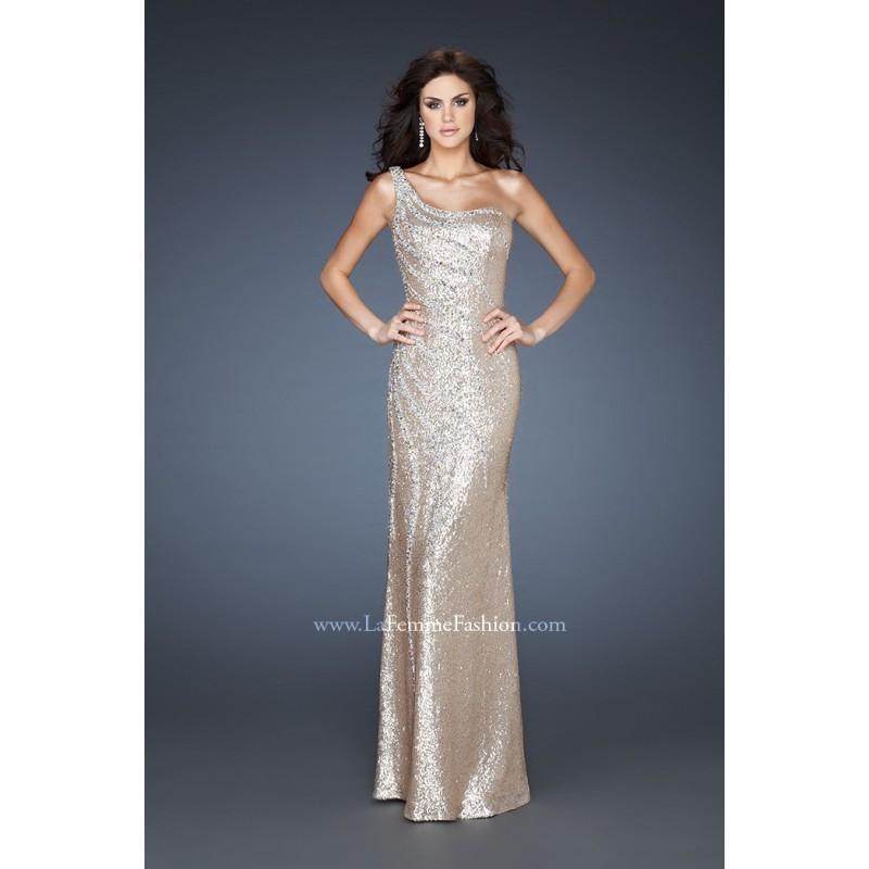 زفاف - Stylish Empire Satin Floor-length One Shoulder Sequin Evening/celebrity/formal Dress La Femme 18634 - Cheap Discount Evening Gowns