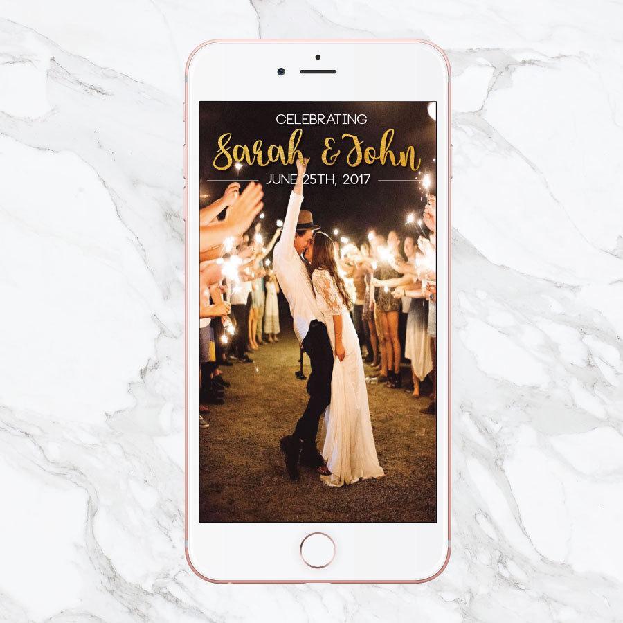 Snapchat filter Custom Snapchat Sparkle Gold Wedding Geofilter GeoFilter Photo Filter Mr Wedding Geofilter and Mrs Wedding filter