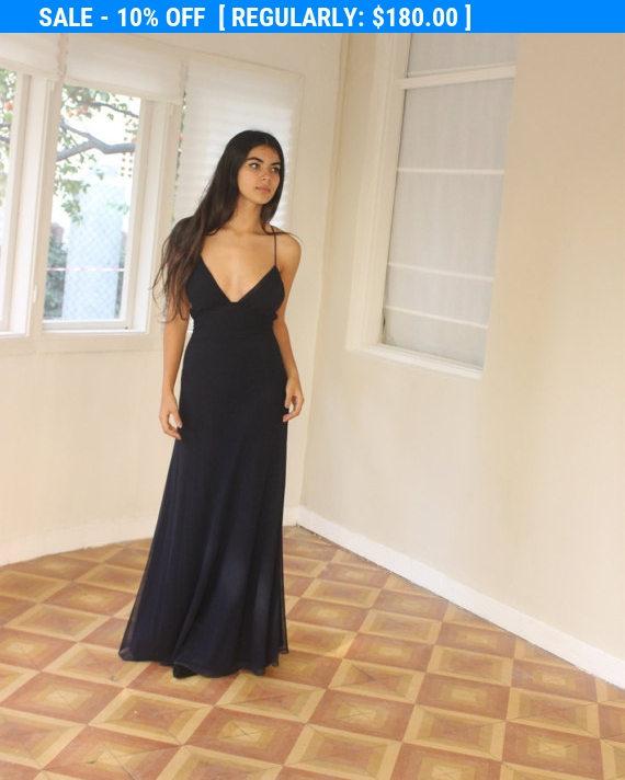 Hochzeit - SALE Black Dress, Long Dress, Maxi Dress, Black Party Dress, Evening Dress, Prom Dress, Elegant Dress, Black Long Dress, Open Back Dress