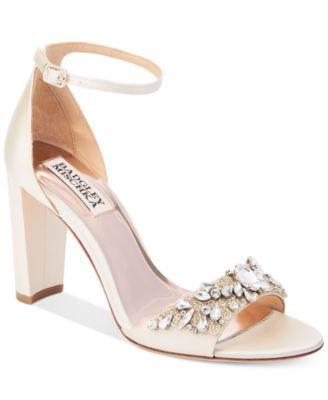 Wedding - Badgley Mischka Barby Ankle-Strap Evening Sandals