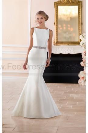Hochzeit - Stella York Ball Gown Modern Keyhole Back Wedding Dress Style 6386