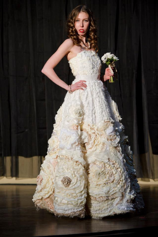 Wedding - Designer Wedding Dress - One of a Kind - Flora Gown - Flower Wedding Dress