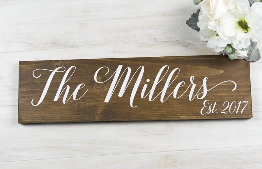 bridal shower gift last name sign rustic wedding decor mothers day gift gift for bride wedding gift personalized gift wedding signage