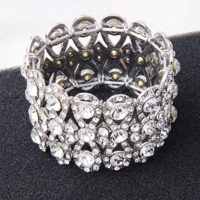 Hochzeit - Luxury Crystal Statement Wedding Bracelet