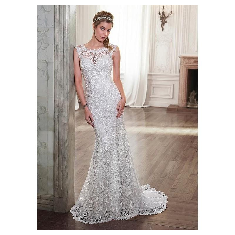 Wedding - Elegant Lace Bateau Neckline Natural Waistline Sheath Wedding Dress - overpinks.com