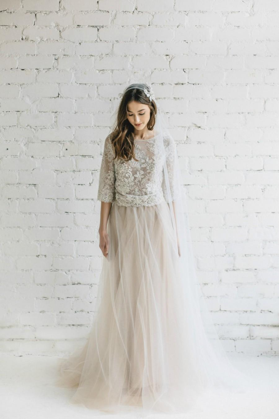 Wedding Dress, Two Piece Bridal Dress, Bridal Separates ,Pastel ...