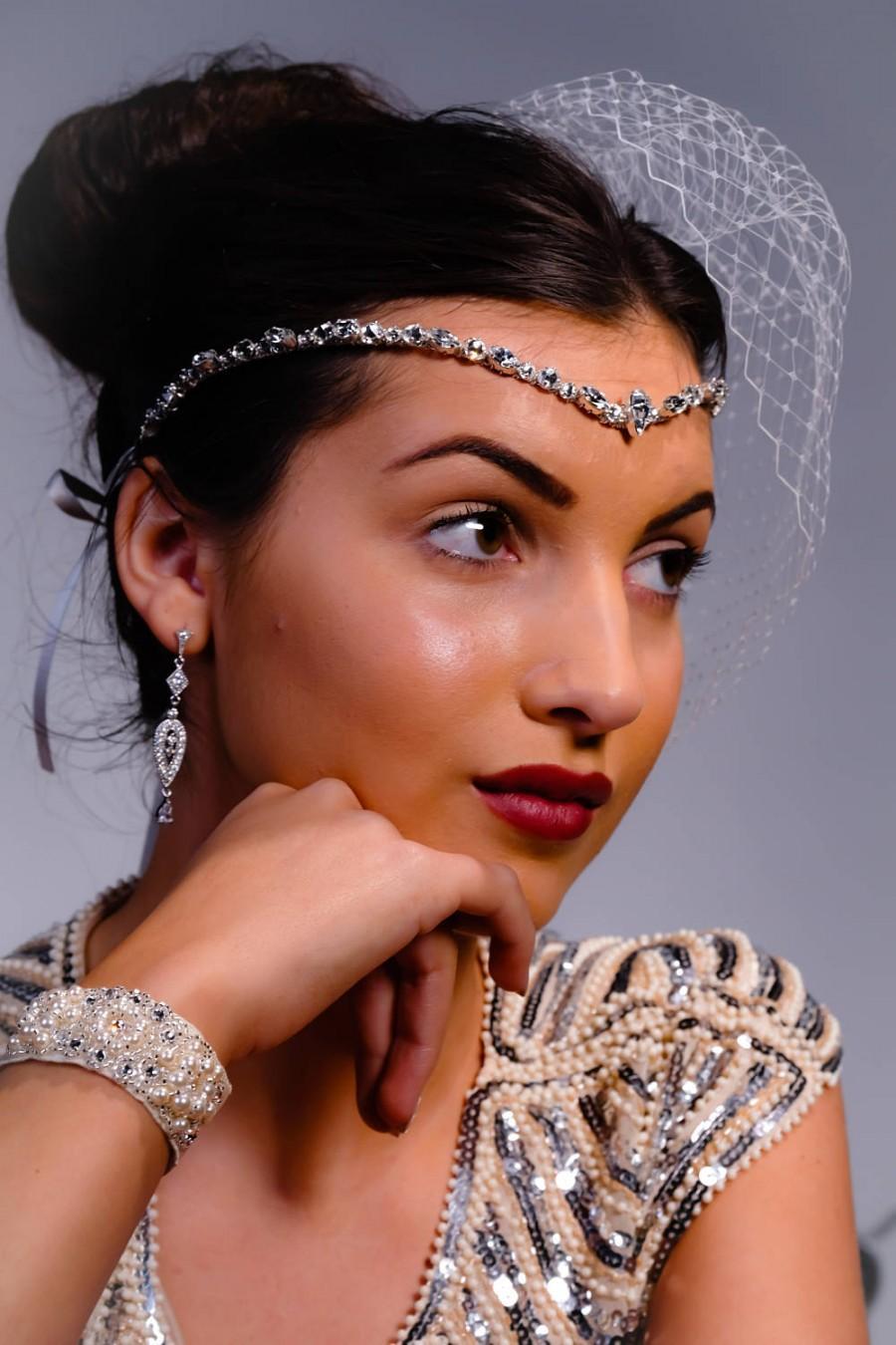 Crystal Head Band Forehead Headdress Bridal Accessories Bride