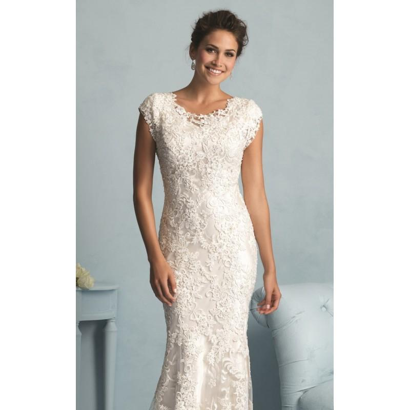 Wedding - Lace Slim Gown by Allure Bridals - Color Your Classy Wardrobe