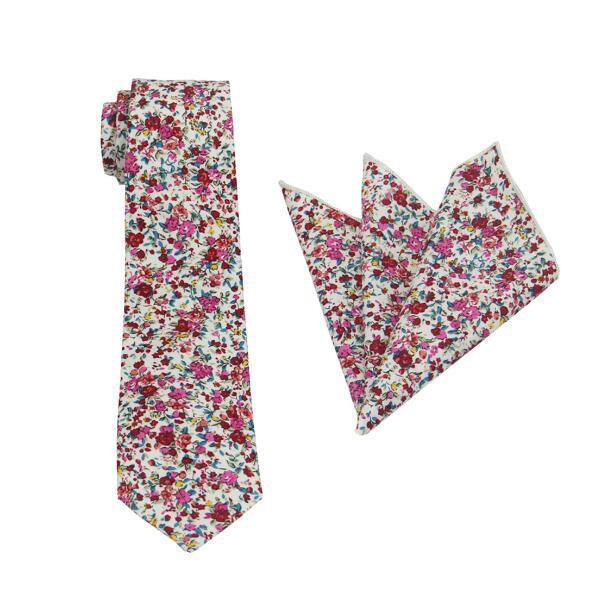 Mariage - Rose Pink Floral Tie.Wedding Floral Tie.Rose Pink Necktie.Mens Floral Tie