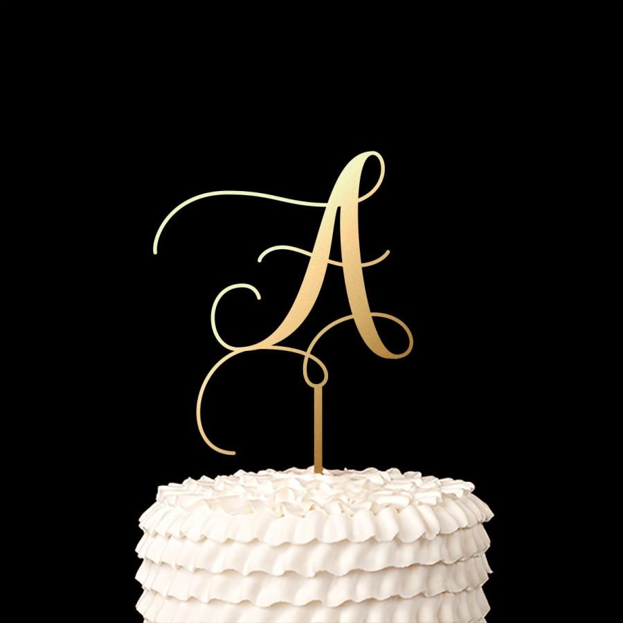 Wedding - Single Letter Monogram Wedding Cake Topper with your Initial - Fairytale Collection
