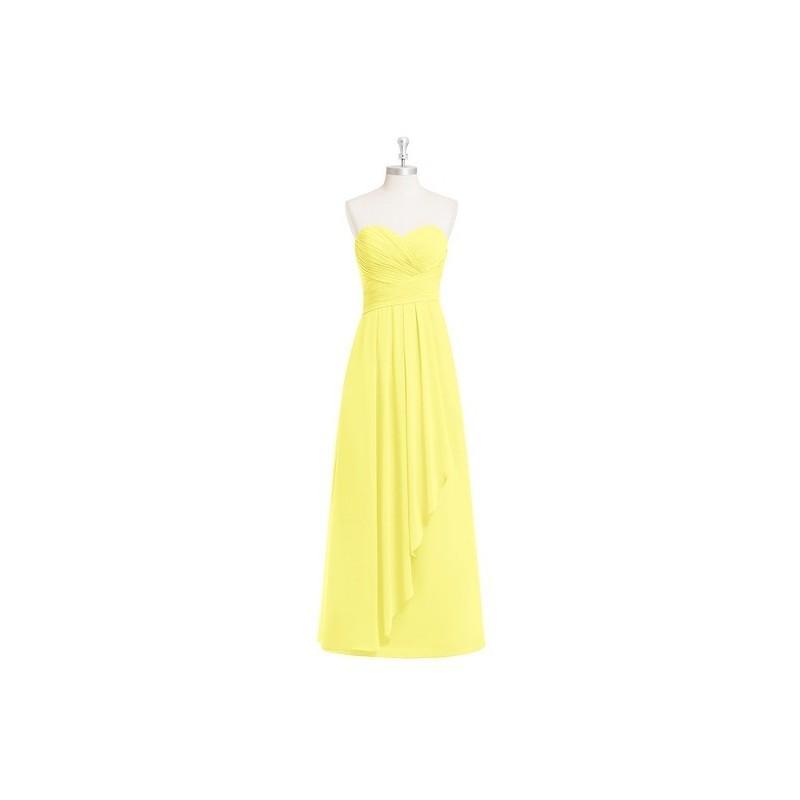 Mariage - Lemon Azazie Faye - Sweetheart Floor Length Chiffon Back Zip Dress - Charming Bridesmaids Store