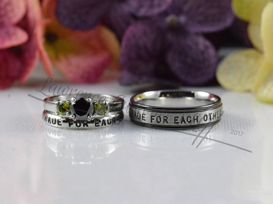 Frankenstein Bride Of Frankenstein Wedding Ring Set Couples