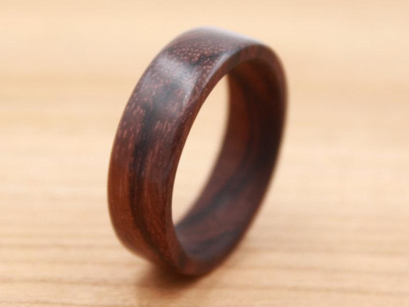 Mariage - East Indian Rosewood Ring - Custom Wood Ring - Unique Wedding Ring - Wedding Ring - Wooden Ring - Mens Jewelry - 5 Year Anniversary