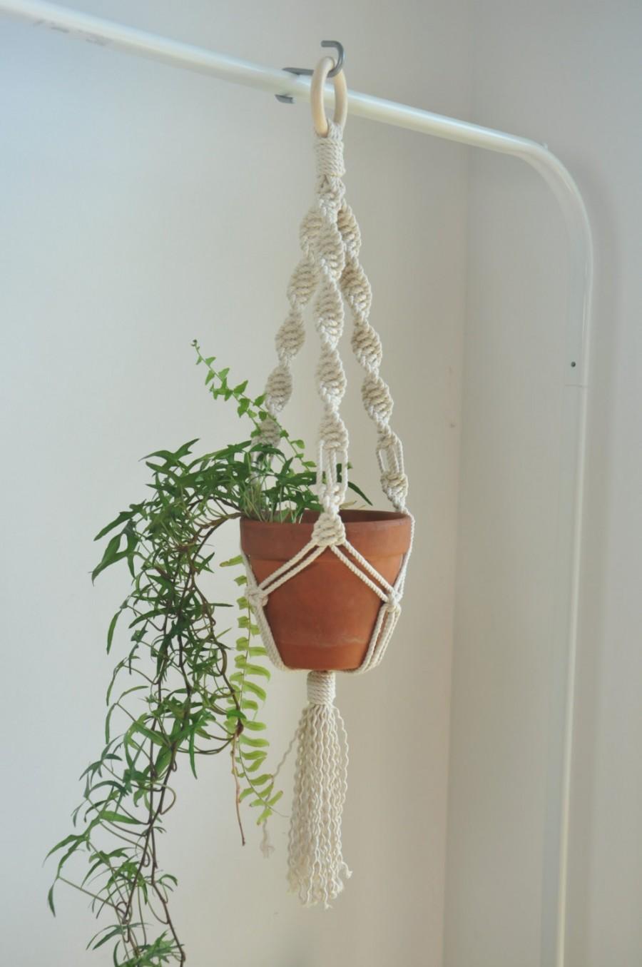 Macrame Pot Holder Plant Hangers Cotton Rope Macrame Boho Wedding
