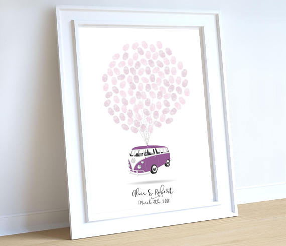 Vintage Wedding Gifts: Campervan Wedding Gift, Unique Wedding Gift For Couple