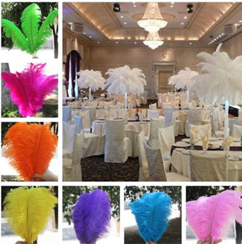 "Hochzeit - 100 pcs 14-16"" Wholesale beautiful ostrich feathers for Centerpieces Wedding"