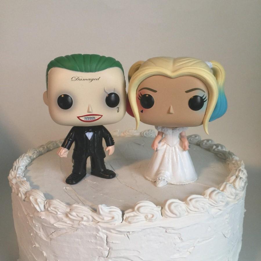 زفاف - Custom Funko Pop Joker and Harley Wedding Caketoppers
