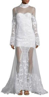 Jonathan Simkhai Lace Bell Sleeve Gown 2692978 Weddbook
