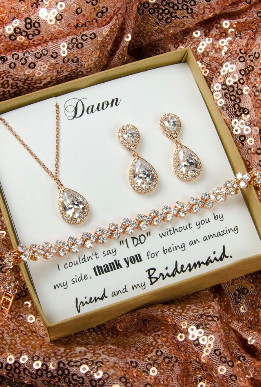 Mariage - Wedding Jewelry Bridesmaid Gift Bridesmaid Jewelry Bridal Jewelry cubic zircon bracelet,bridal crystal bracelet,personalized bridesmaid gift