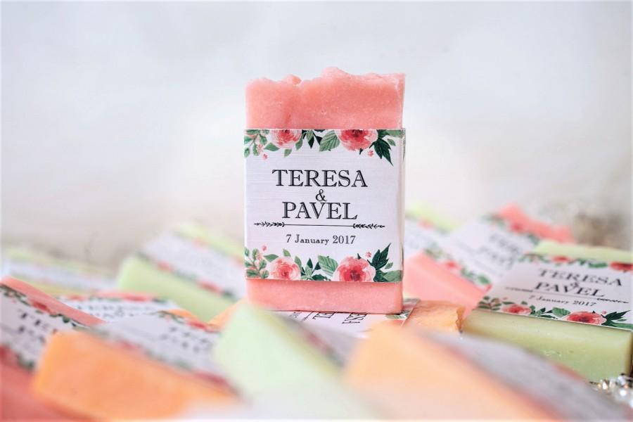 100 Wedding Favors Soap Wedding Favors Wedding Soap Soap Favors