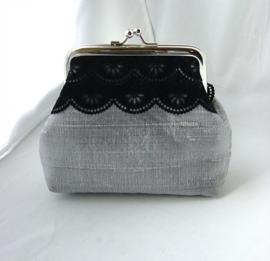 Mariage - Mini Madison - coin purse lined in pale rose silk