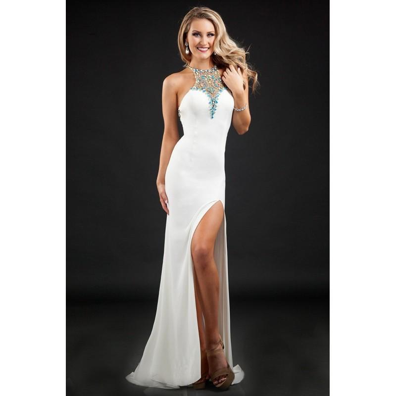 68841d71a4f Rachel Allan Princess 2043 Jersey Sheath Prom Dress - Rachel Allan Sheath  Halter, Illusion, Sweetheart Long Prom Dress - 2017 New Wedding Dresses