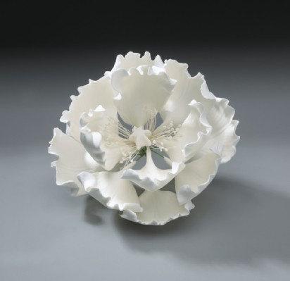 Свадьба - Peony Gum Paste Flower for Weddings and Cake Decorating - Ships Insured!
