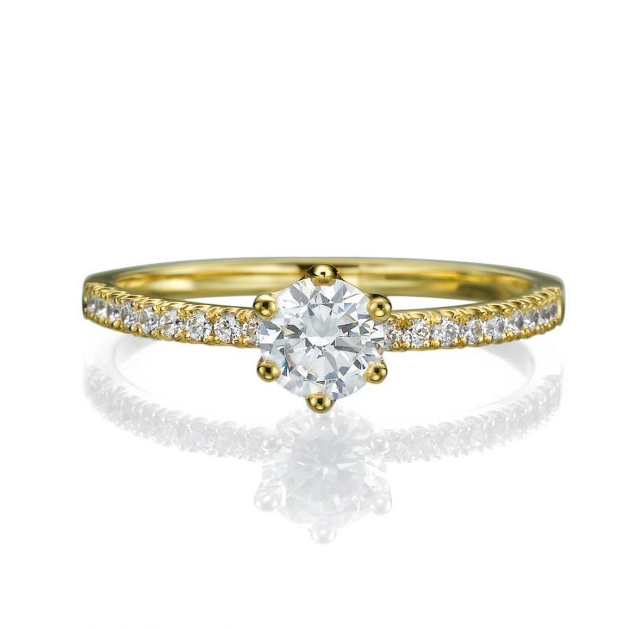 Mariage - Engagement ring - Promise ring - Bridal ring - Diamond ring - Statement ring - Wedding ring - Rose gold ring - 14k gold ring
