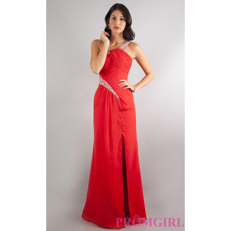 Wedding - Floor Length One Shoulder Dress - Brand Prom Dresses