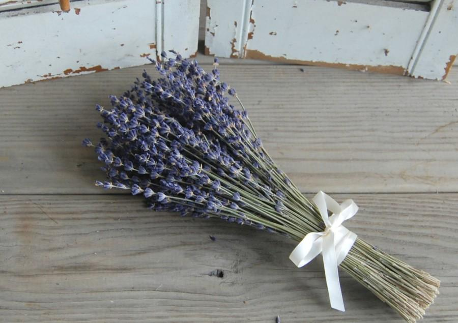 Mariage - Six Each Dried Lavender Bridesmaid Bouquets  / Wedding Bouquets /  French Lavender Bouquet / Lavender Bunch