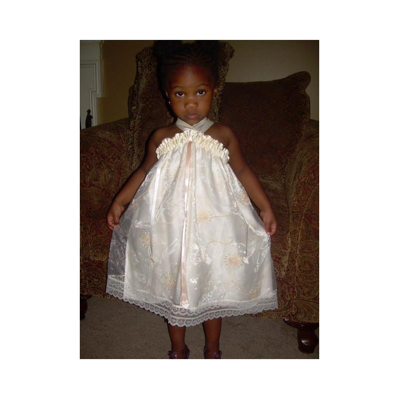 Custom flower girls pillowcase sun dress heirloom beach for Flower girl dress for beach wedding