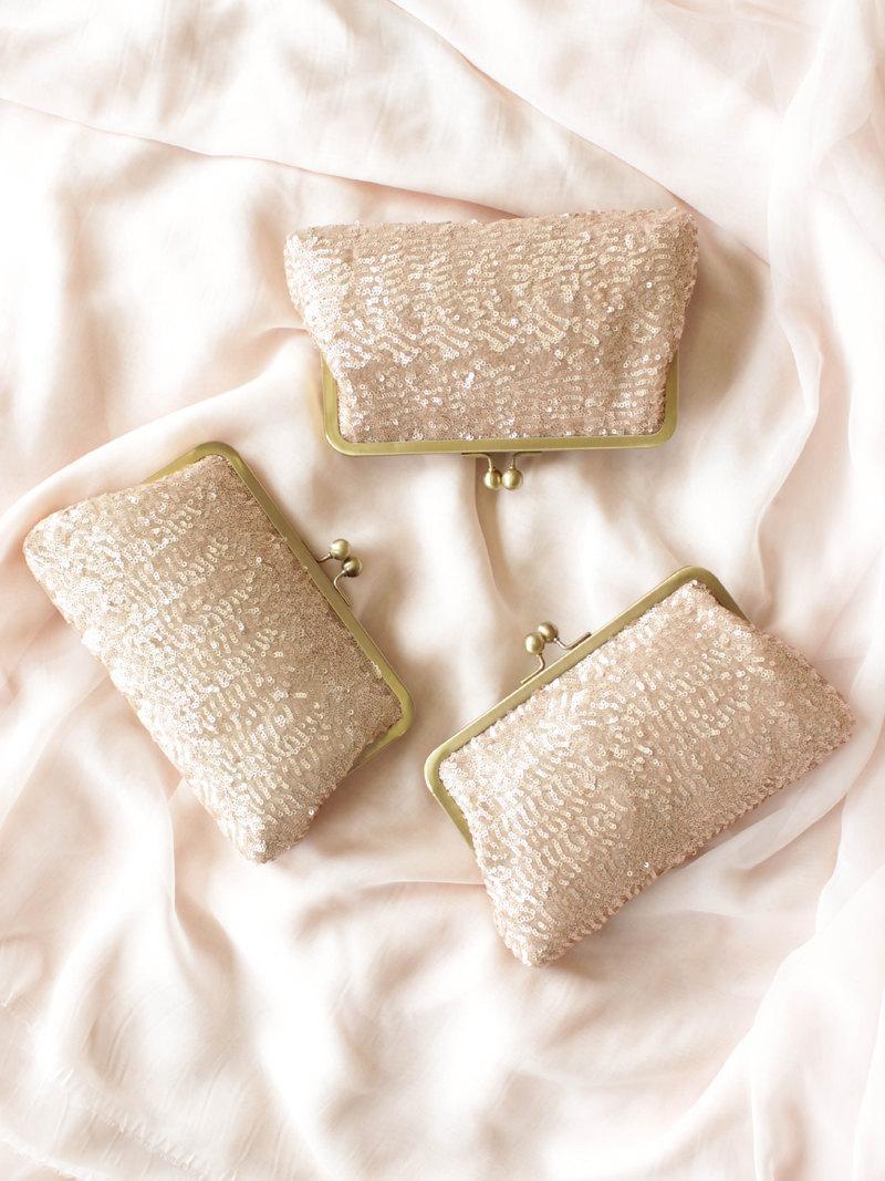 Wedding - Rose Gold Clutch