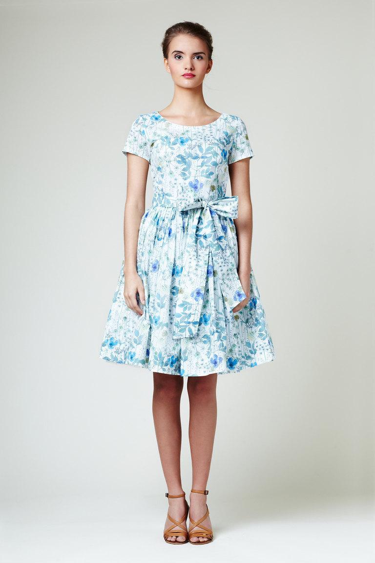 زفاف - Floral bridesmaid dress Floral sun dress 1950s bridesmaid dress Plus size floral dress Boatneck floral dress Plus size sundress 50s