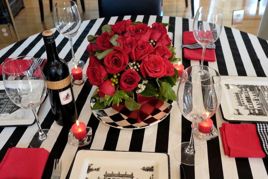 Mariage - Black and White Stripe Table  Overlay - SELECT A SIZE