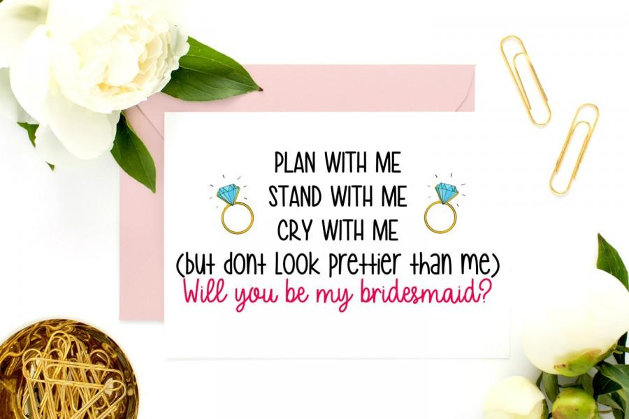 Свадьба - Funny Bridesmaid Proposal, Bridesmaid Card, Maid Of Honor Asking, Will You Be My