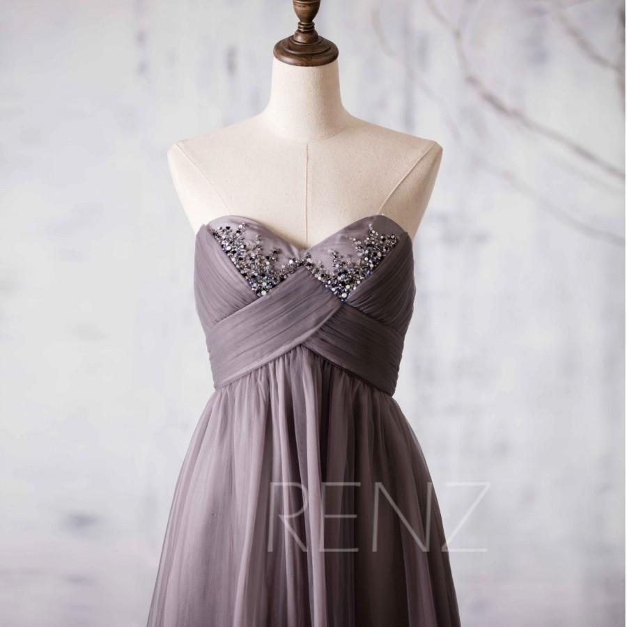2017 dark gray bridesmaid dress short beaded sweetheart for Dark grey wedding dresses