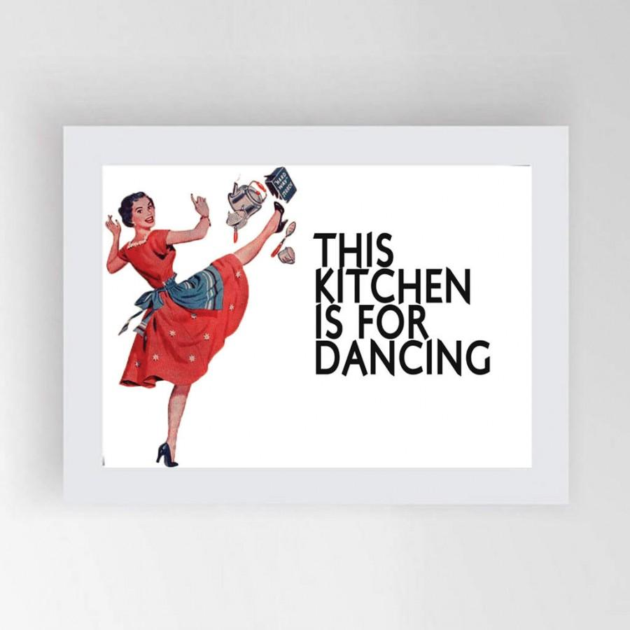 Printable kitchen art - Kitchen Posters Printable Poster Kitchen Prints This Kitchen Is For Dancing Kitchen Art Kitchen Wall Art Motivational Print Printable Art