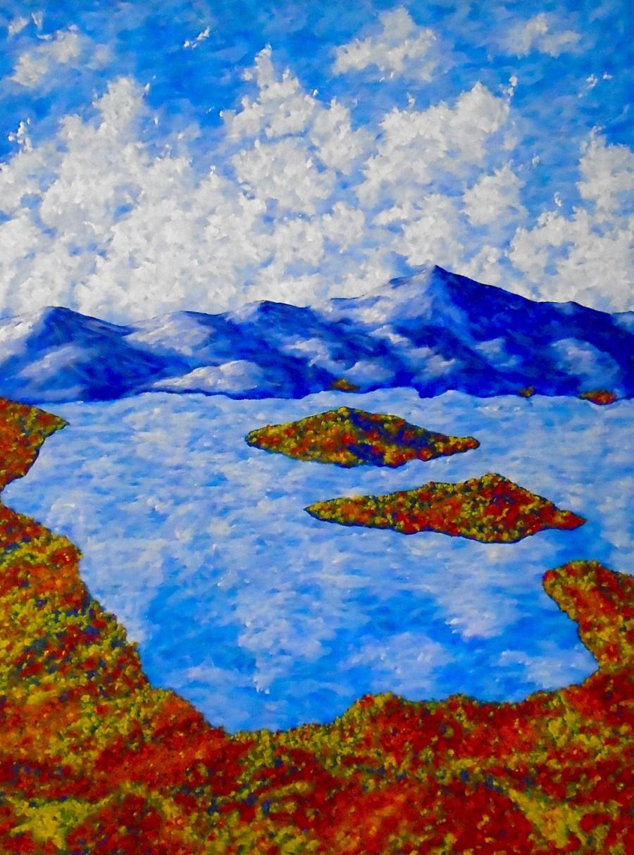 "زفاف - Lake Placid (ORIGINAL ACRYLIC PAINTING) 36"" x 48"" by Mike Kraus"