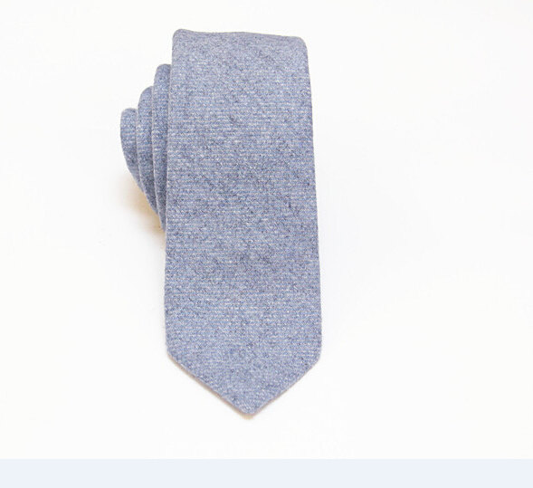 Boda - Pastel Blue Wool Tie.Blue Wool Necktie.Wool Wedding Tie.Gift.