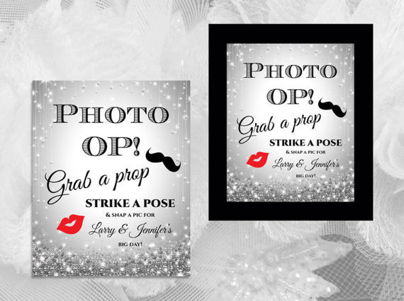 Wedding - DIY Printable Wedding Photo Booth Prop Sign Template