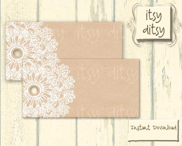 image about Printable Kraft Tags known as Rustic Desire Tags - Marriage Printable - Lace Doily Wedding ceremony