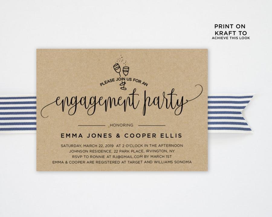 Свадьба - Engagement Party Invitation Template