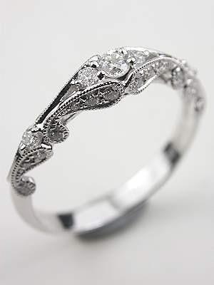 Boda - Swirling Diamond Wedding Band
