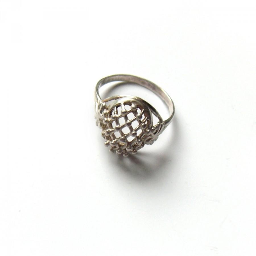 antique engagement ring silver jewelry vintage ring