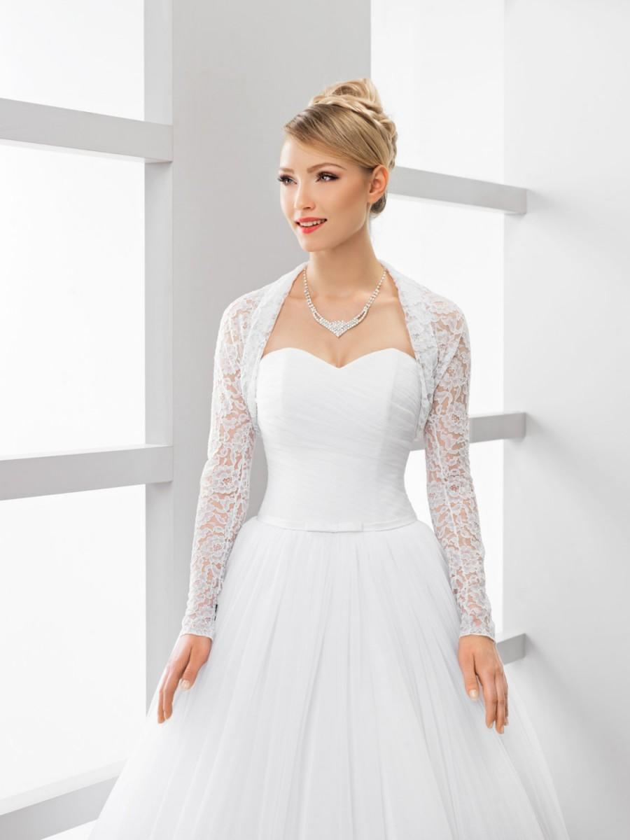 زفاف - Elastic Tulle Lace Bridal Cover Up