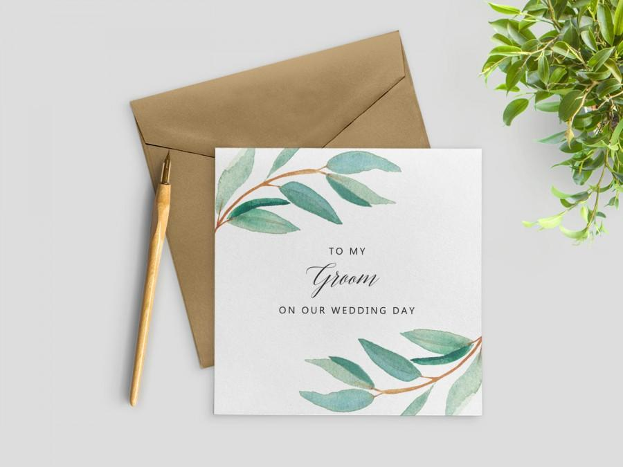 Groom's Gift To Bride On Wedding Day | To My Husband On Our Wedding Day To My Groom Card Wedding Day Card