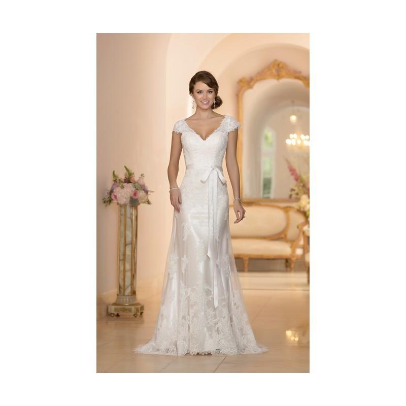 Wedding - Elegant Sheath/Column Straps Lace Sweep/Brush Train Wedding Dresses - Dressesular.com
